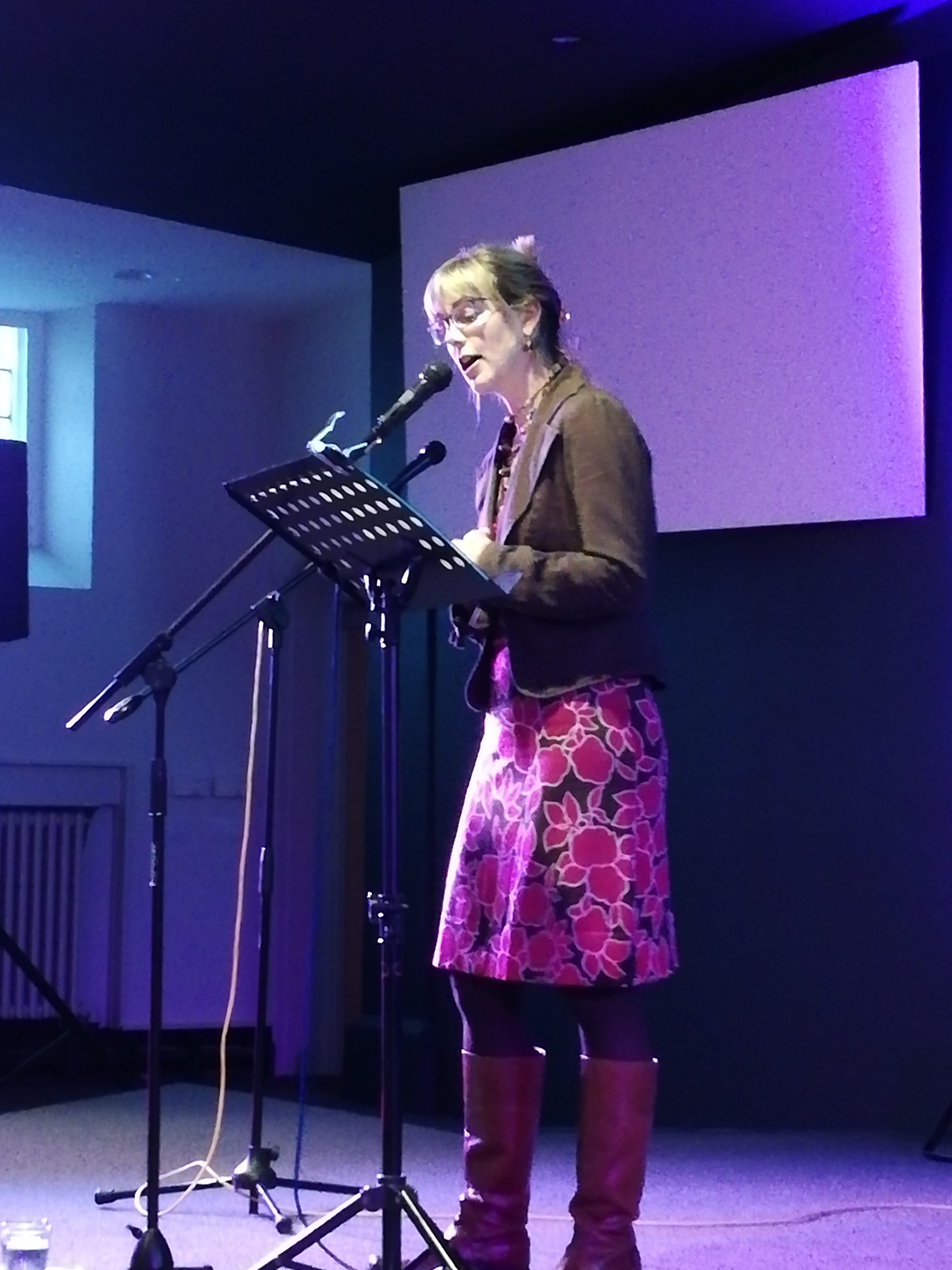 Merryn Glover speaking at Ness Book Fest