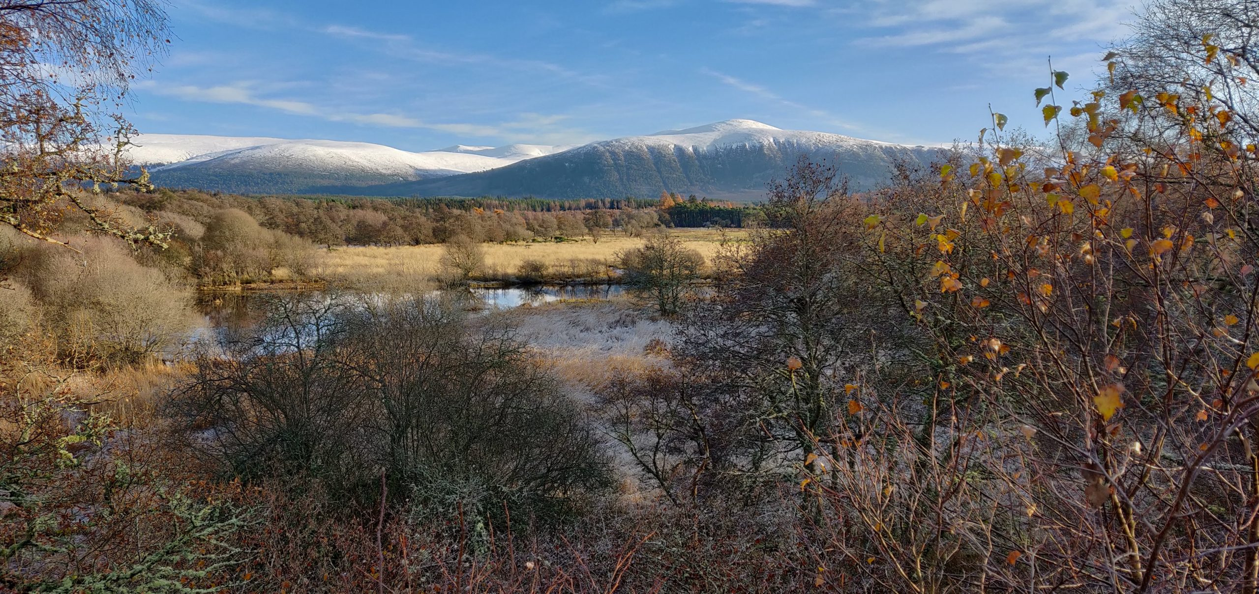 The Feshie Hills in snow, Cairngorms