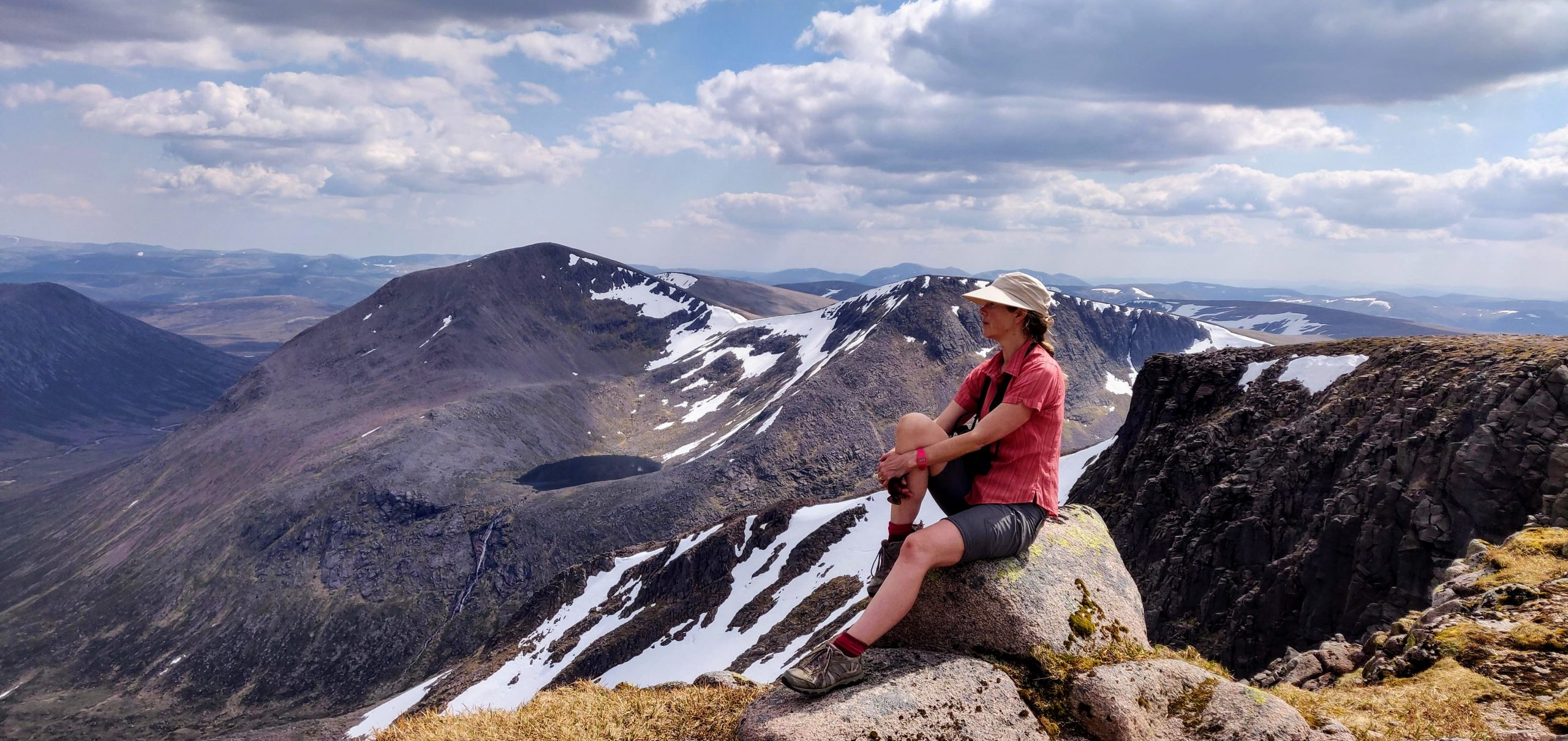 Merryn Glover on Braeriach, Cairngorms